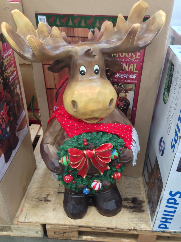 Costco Christmas holiday moose decoration | A look at the Co… | Flickr