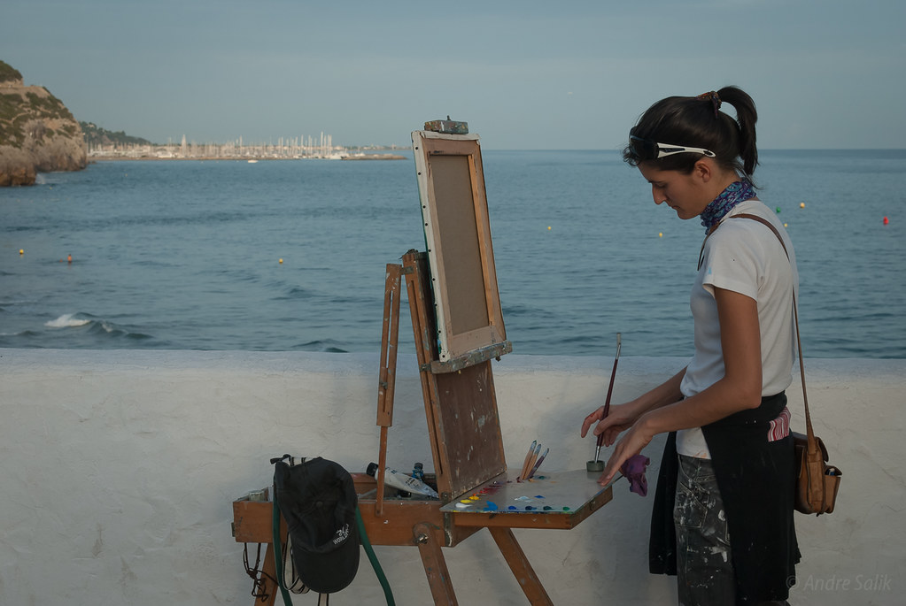 The painter and the sea  DSC_9547