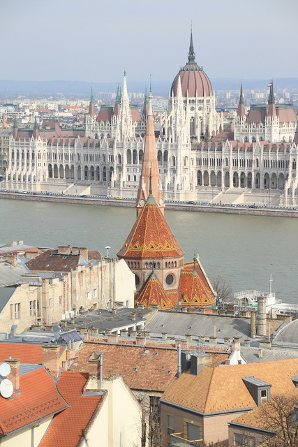 View towards the The Hungarian Parliament Building