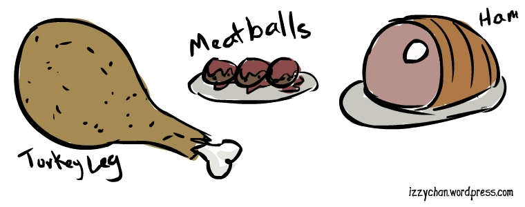 turkey leg meatballs ham
