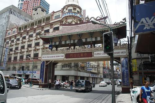 菲律賓與中國關係源遠流長,馬尼拉更有全球最古老的唐人街,入口建有中菲友誼門。(勞顯亮攝)