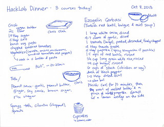 2013-10-08 Hacklab Dinner - four courses, actually! #cooking | by sachac