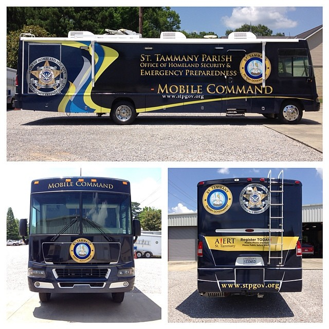 St Tammany Parish Gov new Mobile Command Full RV Wrap  #rv