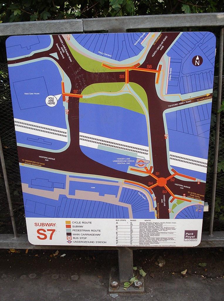 Hanger Lane subway map Kake Flickr