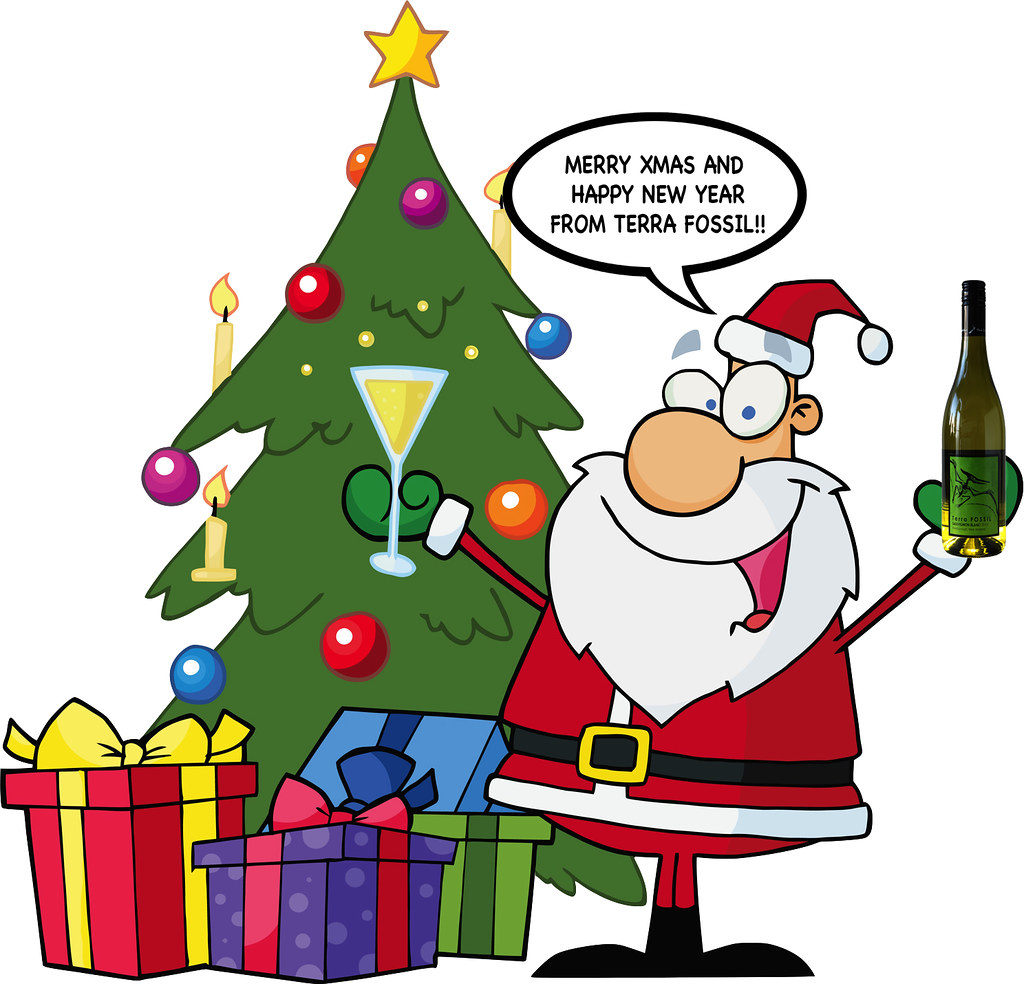 christmas tree with santa clipart by terra fossil wine - Christmas Tree Santa