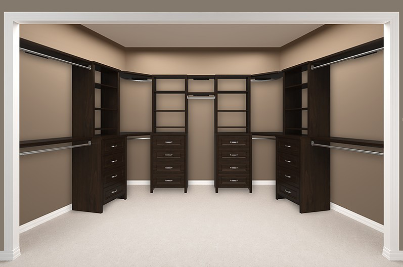... Impressions Walk In Chocolate Bedroom 6 Empty | By ClosetMaid