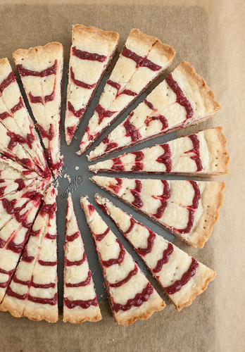 Cranberry Swirl Shortbread | by Tracey's Culinary Adventures