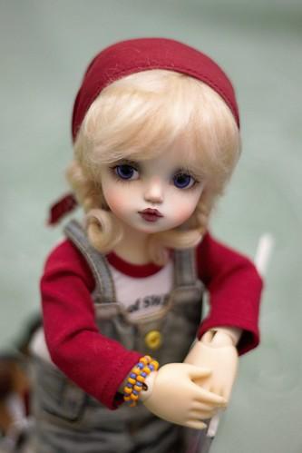 playing my friend's dolls