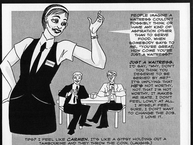 Dolores Dante, Waitress