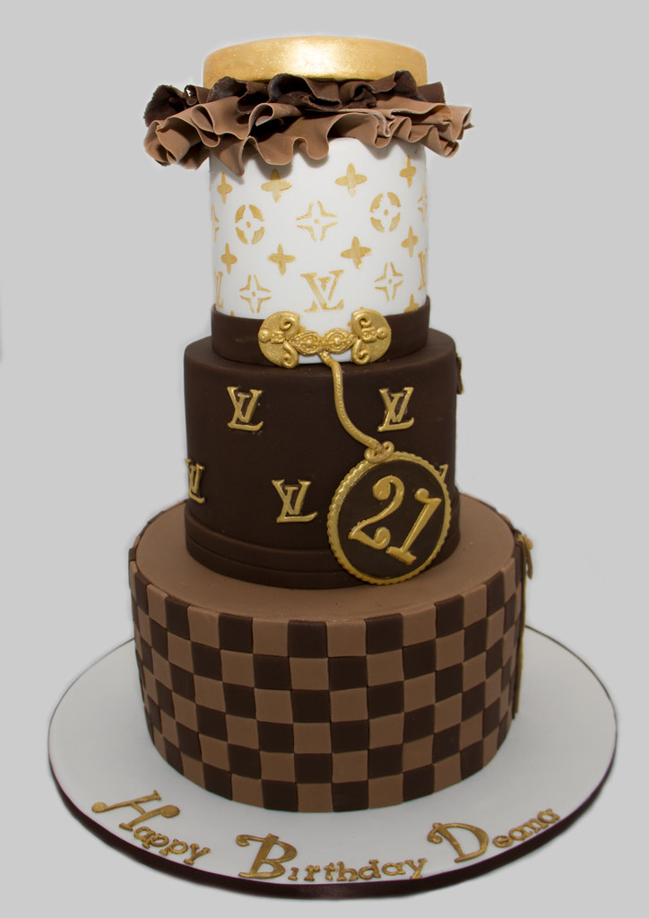 Louis Vuitton Birthday Cake Design Was A Copy Of A Cake T Flickr