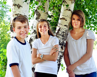 Kids portrait summer trees siblings teens tweens brother sisters | by GoodNCrazy