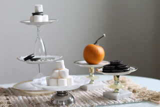 Wedding Craft: DIY cake stands made from thrifed dinnerware | by Célèste of Fashion is Evolution