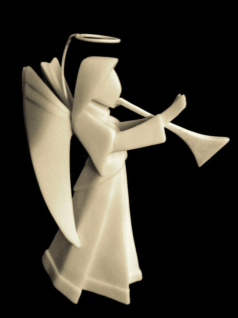 Porcelain Origami Angel