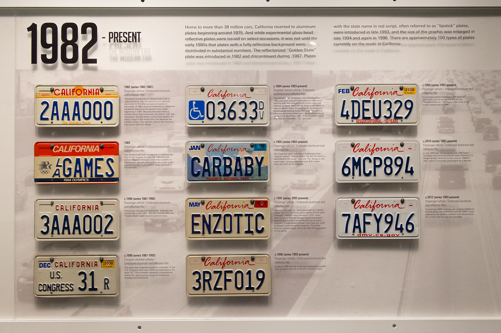 California License Plates 1982 Present Home To More Than Flickr