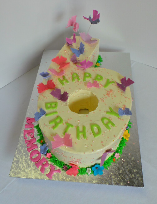 Number 6 Butterfly Birthday Cake Willi Probst Bakery Flickr