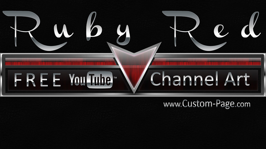 Ruby Red YouTube Channel Art | Download the Ruby Red YouTube… | Flickr
