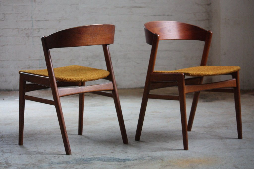 Beau ... Devilish Dux Danish Mid Century Modern Ribbon Back Teak Dining Chairs  (Denmark, 1960s)
