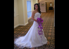 Cascading and Floating Purple Orchid Bridal Bouquet | Flickr