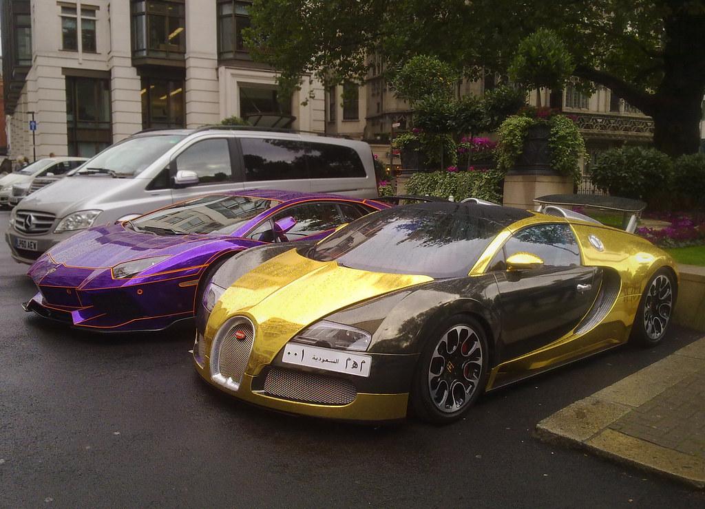 Bugatti Veyron Gold Wrapped Lamborghini Aventador Tron Flickr