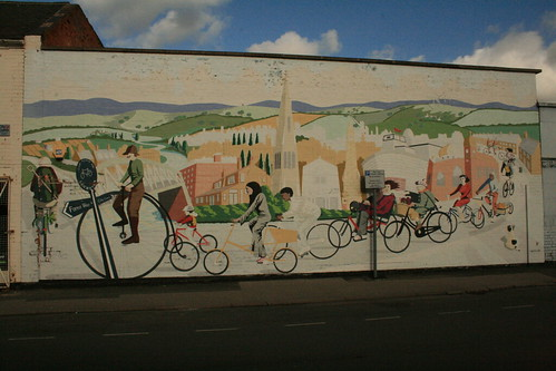 Cycling mural, Leicester