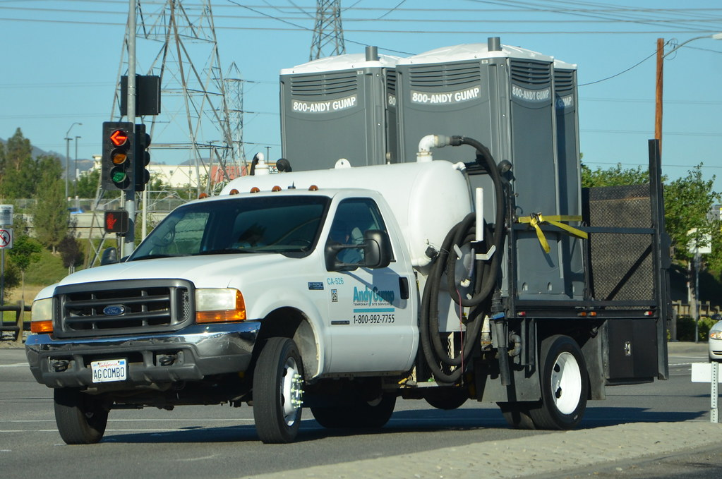 ... ANDY GUMP   FORD STAKE BED TRUCK With PORTABLE RESTROOMS | By  Navymailman