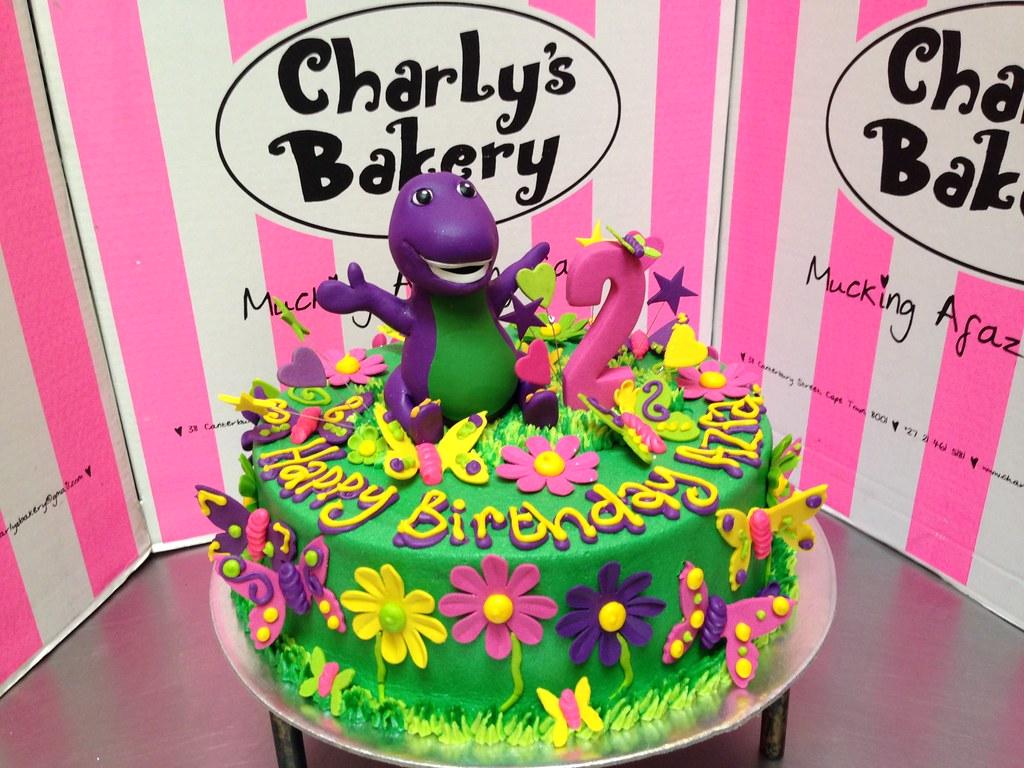 Barney Garden scene cake Charlys Bakery Flickr