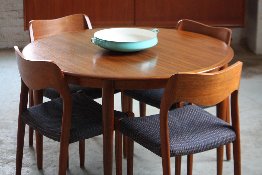 ... Capable Danish Mid Century Modern Skovmand Andersen Expandable Teak Dining  Table For Moreddi (Denmark,