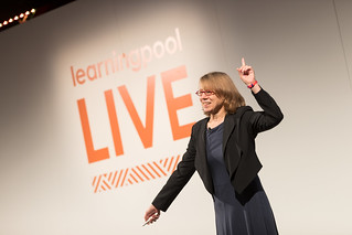 Cathy Moore during her Keynote at Learning Pool Live 2016 | by LearningPool