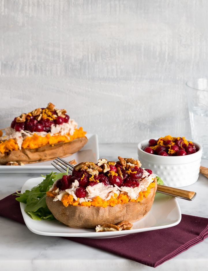 Roast Turkey and Cranberry Stuffed Sweet Potatoes www.pineappleandcoconut.com