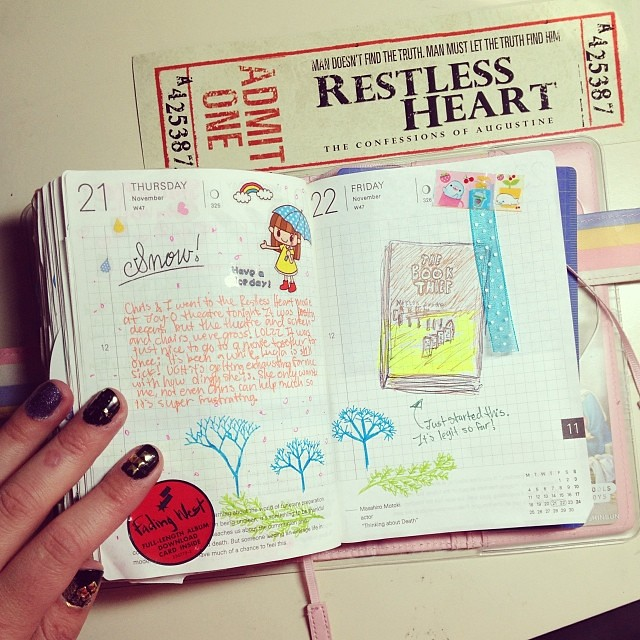 Hobonichi 1121 2213 Powerpuffkay Diary Journal Planner Techo
