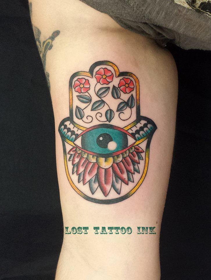 Mano De Fátima Tattoo Tradicional Copyright 2014 Lostta Flickr