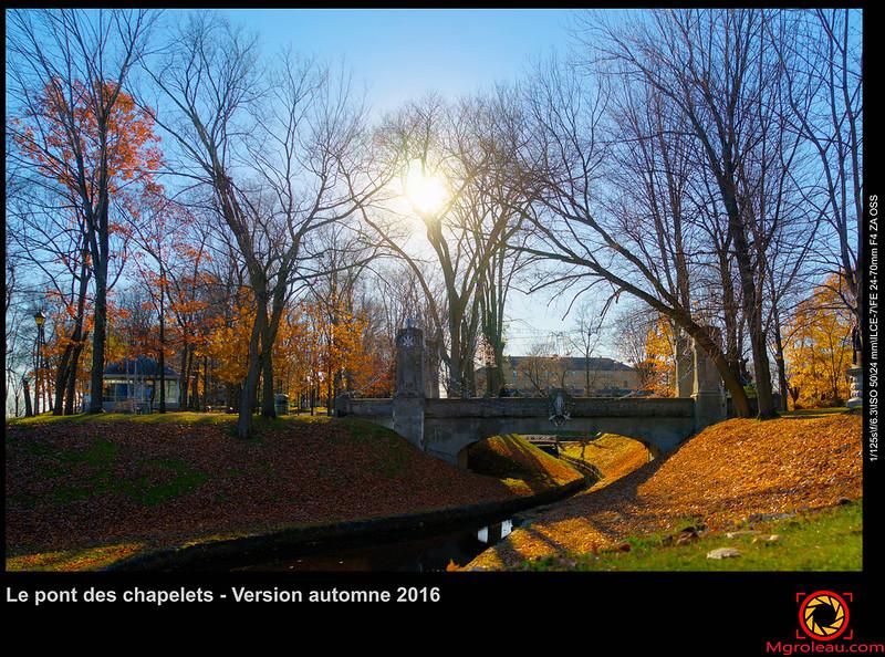Le pont des chapelets - Version automne 2016