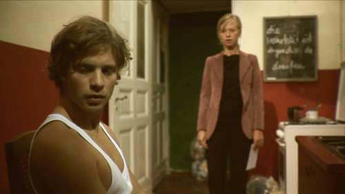 "Moving out: ""You owe me 286.48 euros for the deposit."" (Scene from '13 stages') 