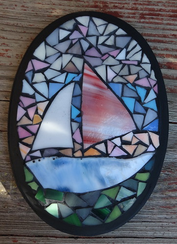 Red Sail Mosaic | by Heart Windows Art