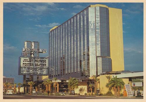 Retro Las Vegas 1980s Desert Inn Hotel Postcard In 1977