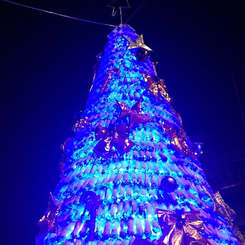 Recycled Plastic Christmas Tree: Christmas Tree Made Out Of Recycled Plastic Bottles Cusco