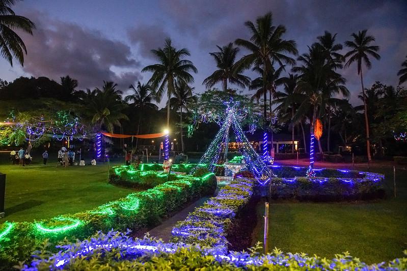 Christmas lights of the resort