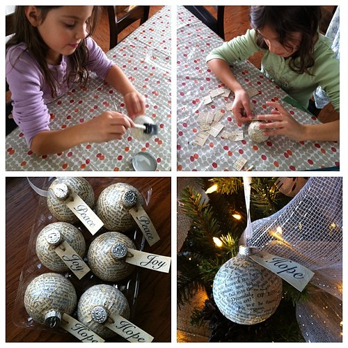 Earlier today: making ornaments with my girlies #christmas #crafty #vintage | by duckyhouse