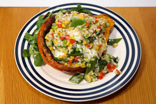 Onion Squash with Rainbow Risotto | by Rachel Cotterill