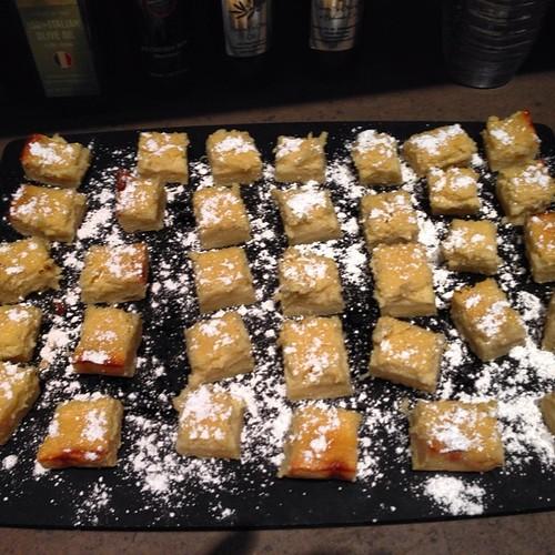 Yummy lemon ricotta bars ready for staff picnic today su for Food52 lemon bar