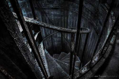 Whittingham Asylum - Water Tower Spiral Stairs | by DugieUK
