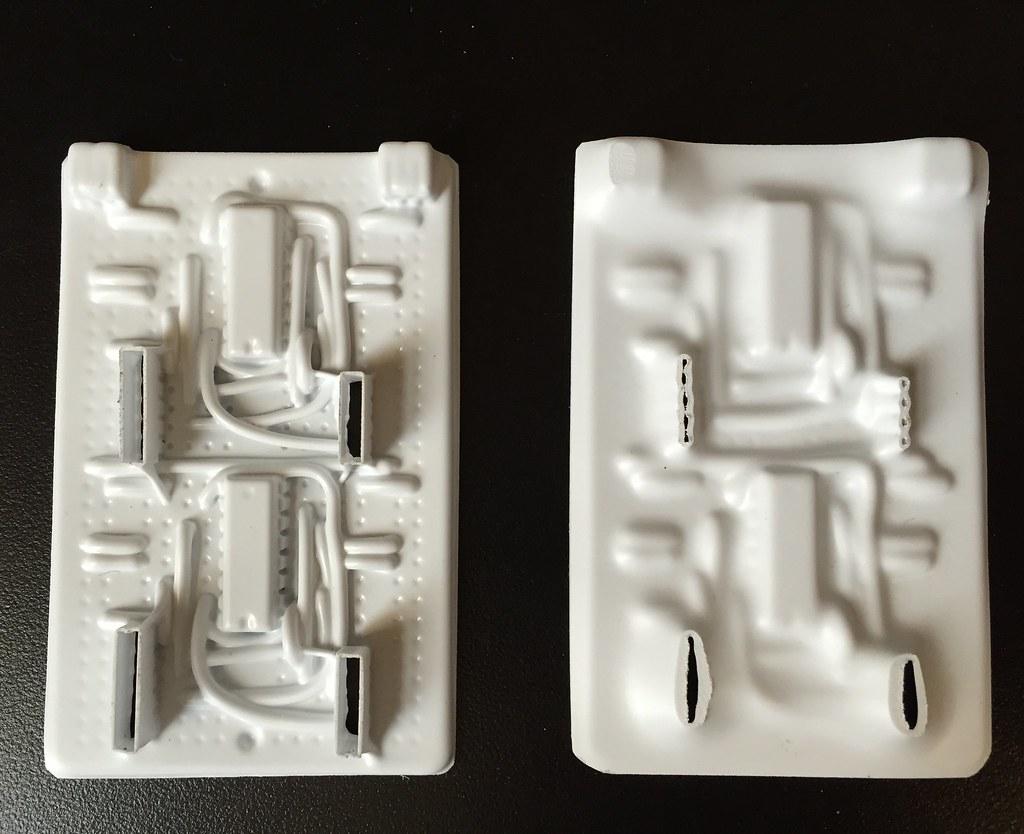 Vacuum formed plastic heated at different temperatures
