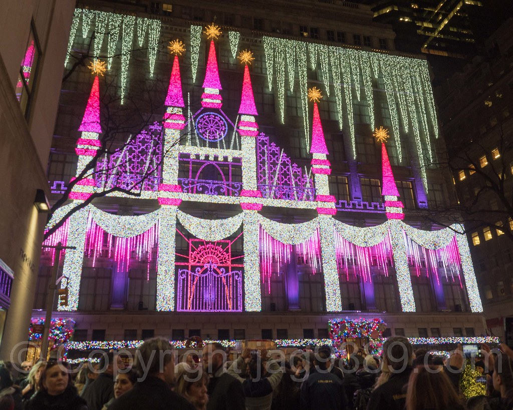 ... Saks Fifth Avenue Holiday Light Show, New York City   By Jag9889