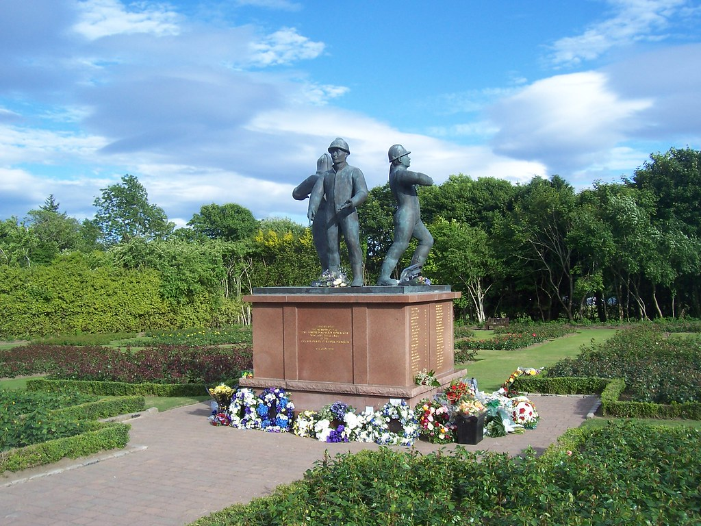 Image result for piper alpha memorial garden