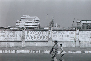 Protest Graffiti on Union Carbide Rd. | by Bhopal Medical Appeal