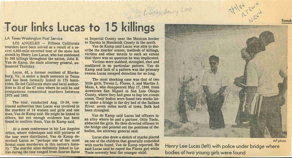 Newspaper clipping with the headline