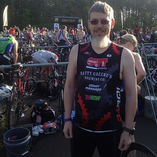 Me before the triathlon this morning. | by clubjuggler