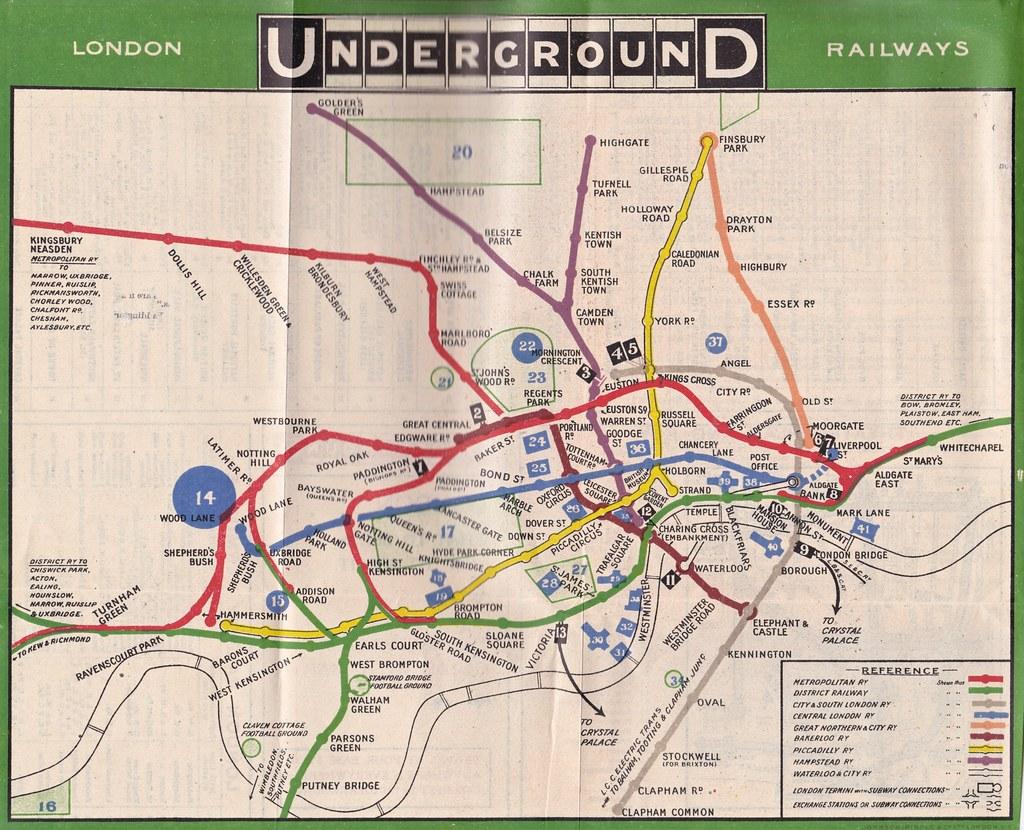 london underground tube map c1912 by mikeyashworth