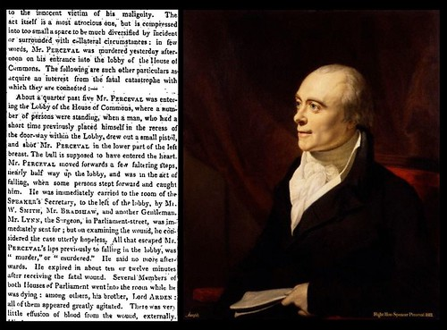 11th May 1812 - Prime Minister Spencer Perceval is assassinated | by Bradford Timeline