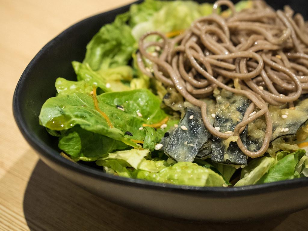 Aoki-Tei's Soba Salad (Sauteed buckwheat noodles salad served with veggies dressing)